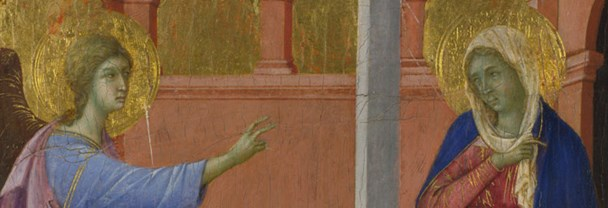 Detail from Duccio 'The Annunciation'