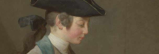 Detail from Chardin, 'The House of Cards', 1736-7