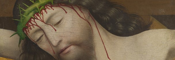 Master of Liesborn: &#39Head of Christ Crucified: Fragment of the Crucifixion Scene'