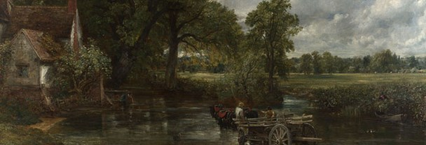 Detail from John Constable, 'The Hay Wain', 1821