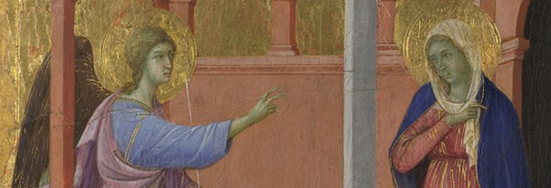 Detail from Duccio, 'The Annunciation', 1307/8-11