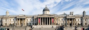 National Gallery Exterior with Banners