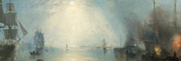 Detail from Joseph Mallord William Turner, 'Keelmen Heaving in Coals by Night', 1835.