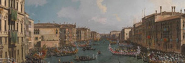 Detail from Canaletto: 'A Regatta on the Grand Canal'