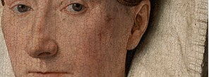 Details from Jan van Eyck, 'Margaret, the Artist's Wife', 1439