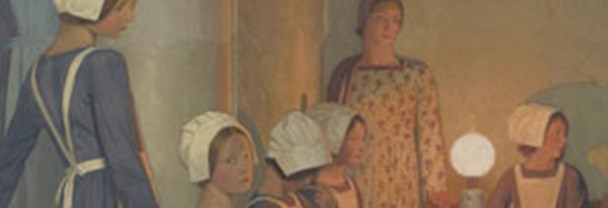 Detail from Frederick Cayley Robinson, 'Acts of Mercy: Orphans II', about 1915