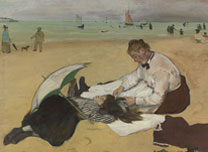 Detail from Hilaire-Germain-Edgar Degas, Beach Scene, about 1869-70