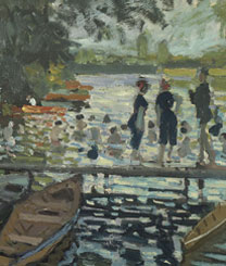 Detail from Claude Monet, Bathers at La Grenouillère, 1869