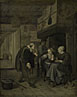 After Jan Steen: 'An Itinerant Musician saluting Two Women in a Kitchen'