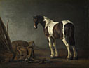 Abraham van Calraet: 'A Horse with a Saddle Beside it'