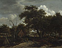 Meindert Hobbema: 'Cottages in a Wood'