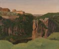 Attributed to Edouard Bertin: 'View of the Gorge at Civita Castellana'