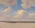 Andreas Schelfhout: 'Landscape with Cumulus Clouds'
