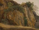 Attributed to Louis Gauffier: 'Cliff at Vicovaro'