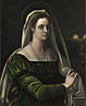 Attributed to Sebastiano del Piombo: 'Portrait of a Lady with the Attributes of Saint Agatha'