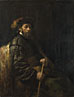 Follower of Rembrandt: 'A Seated Man with a Stick'