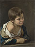 Bartolomé Esteban Murillo: 'A Peasant Boy leaning on a Sill'