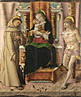 Carlo Crivelli: 'The Virgin and Child with Saints Francis and Sebastian'