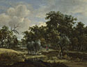 Meindert Hobbema: 'A Stream by a Wood'