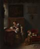 Caspar Netscher: 'A Lady teaching a Child to Read'
