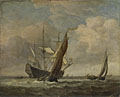 Willem van de Velde: 'Two Small Vessels and a Dutch Man-of-War in a Breeze'