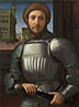 Attributed to Francesco Granacci: 'Portrait of a Man in Armour'