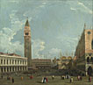 Studio of Canaletto: 'Venice: The Piazzetta from the Molo'