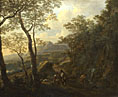 Jan Both: 'A Rocky Italian Landscape with Herdsmen and Muleteers'