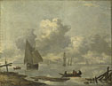Jan van de Cappelle: 'Vessels in Light Airs on a River near a Town'