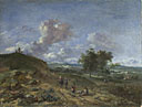 Jan Wijnants: 'A Landscape with a High Dune and Peasants on a Road'