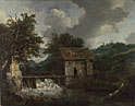Jacob van Ruisdael: 'Two Watermills and an Open Sluice at Singraven'