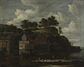 Jacob van Ruisdael: 'Three Watermills with Washerwomen'