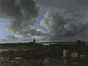 Jacob van Ruisdael: 'A Landscape with a Ruined Castle and a Church'