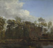 Jan van der Heyden: 'A Farm among Trees'