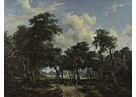 Meindert Hobbema: 'A Woody Landscape with a Cottage'