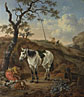Pieter Verbeeck: 'A White Horse standing by a Sleeping Man'
