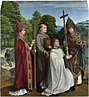 Gerard David: 'Canon Bernardijn Salviati and Three Saints'