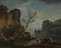 Claude-Joseph Vernet: 'A River with Fishermen'