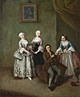 Pietro Longhi: 'An Interior with Three Women and a Seated Man'
