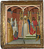Attributed to Pietro Lorenzetti: 'Saint Sabinus before the Governor of Tuscany (?)'