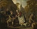 Jan Victors: 'A Village Scene with a Cobbler'