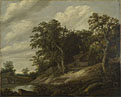 Cornelis Decker: 'A Cottage among Trees on the Bank of a Stream'