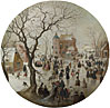 Hendrick Avercamp: 'A Winter Scene with Skaters near a Castle'