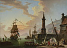 Attributed to Claude-Joseph Vernet: 'A Seaport'
