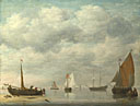 Jan van Os: 'Dutch Vessels in Calm Water'