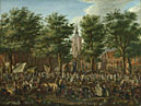 Paulus Constantijn La Fargue: 'The Grote Markt at The Hague'