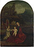 German (?): 'The Virgin and Child with an Angel in a Landscape'