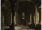 Imitator of Hendrick van Steenwyck the Younger: 'Interior of a Church at Night'
