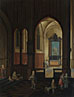 Studio of Pieter Neeffs the Elder: 'View of a Chapel at Evening'
