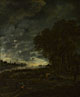 Aert van der Neer: 'A Landscape with a River at Evening'